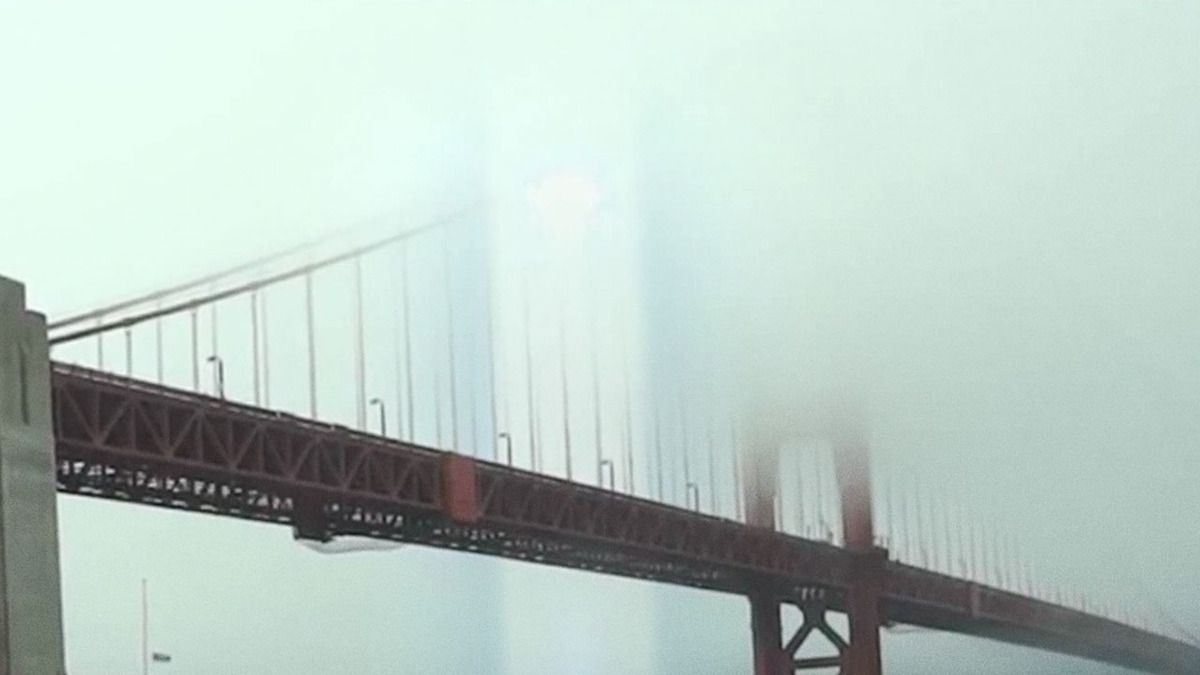 UFO Light Beam over Golden Gate Bridge San Francisco 2015 !!!