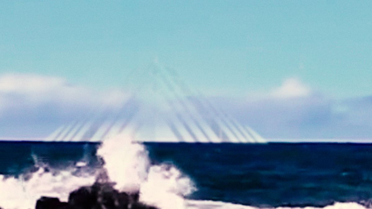 Huge Pyramid emerges in Bermuda Triangle with Glowing UFO - Dec 2015 !!!