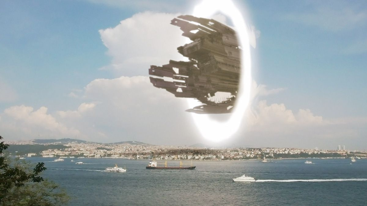 UFO madre arriva in Turchia attraverso Interdimensional Portal! nov 2016