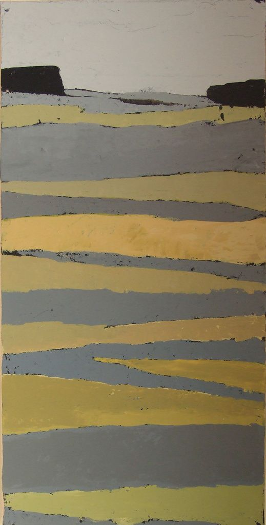 Acryliques sur papier marouflé sur toiles