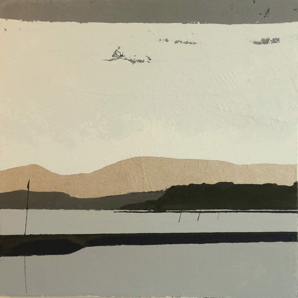 Acryliques sur papier Lokta marouflè sur toiles de lin et croquis 20x20 à la pierre noire