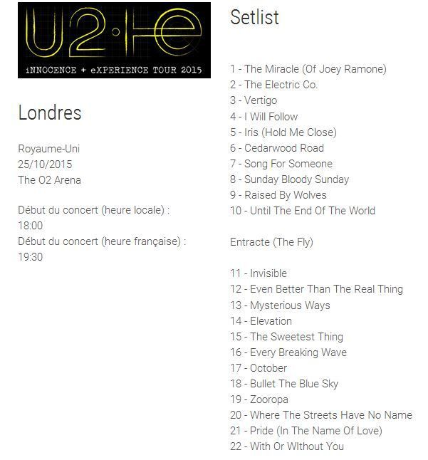 U2 The O2 Arena-Royaume-Uni-Londres (1) 25/10/2015