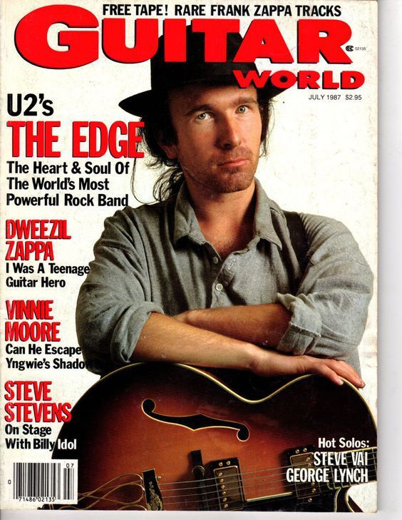 U2- Magzine Guitar World -Juillet 1987