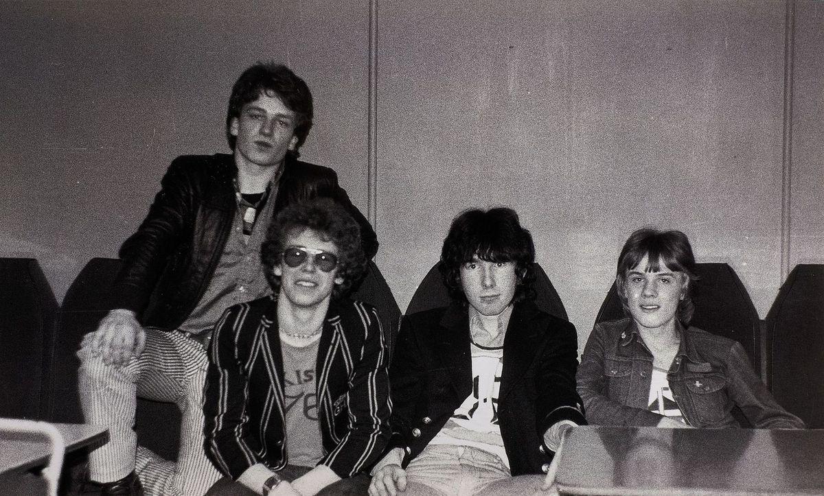 Une image rare de 1978 de U2 à la Stella Ballroom, Limerick au cours de la 78 Compétition Limerick Civic Week Pop.