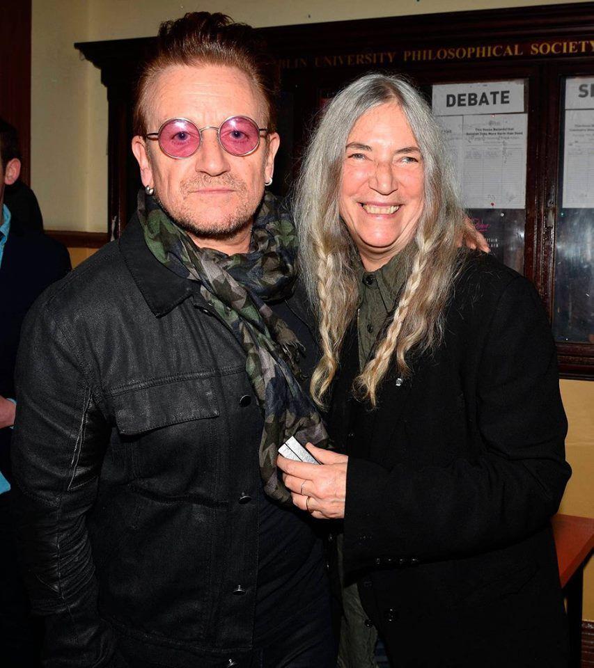 Bono et Patti Smith.