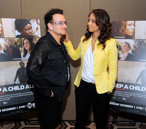 Bono et Alicia Keys -New -York -30/11/2011