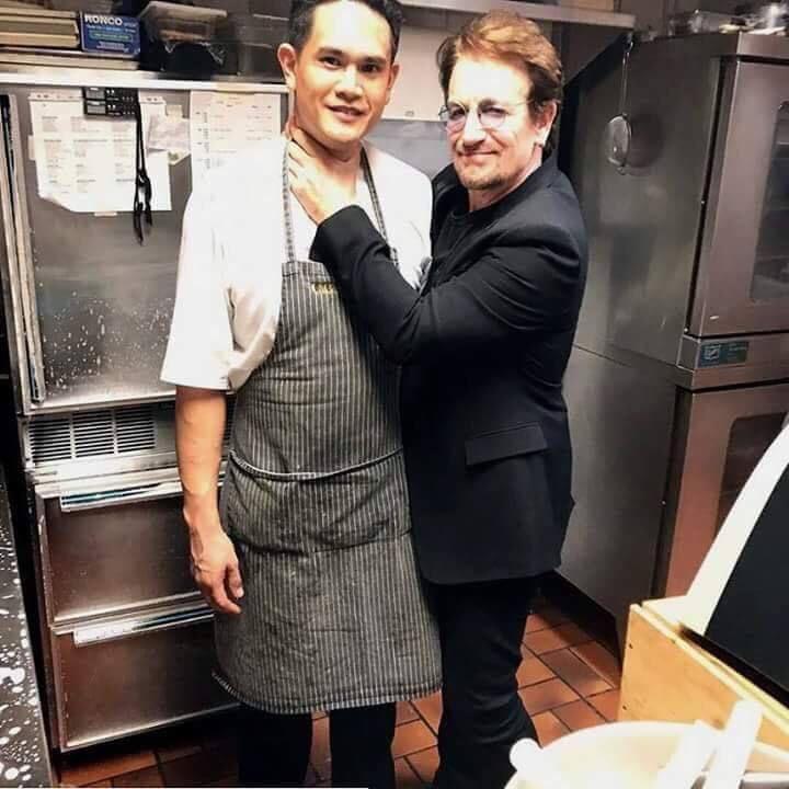 Bono à Cioppino's Mediterranean Grill -Vancouver -07/05/2017