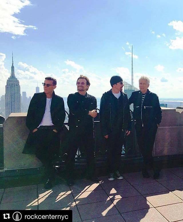 U2 -Au sommet du Rockefeller Center -New York 07-09-2017