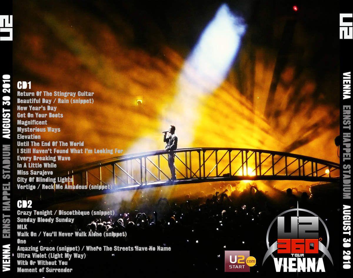 U2 -360° Tour -Vienne Autriche 30/08/2010 -Ernst Happel Stadium,