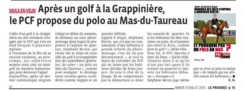 Une idée stupide pour Mr Bertin : Un polo au Mas ? (2)
