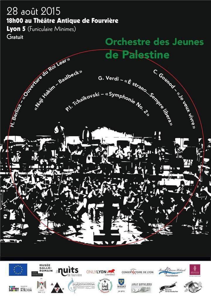 L'orchestre des jeunes palestiniens à Lyon !