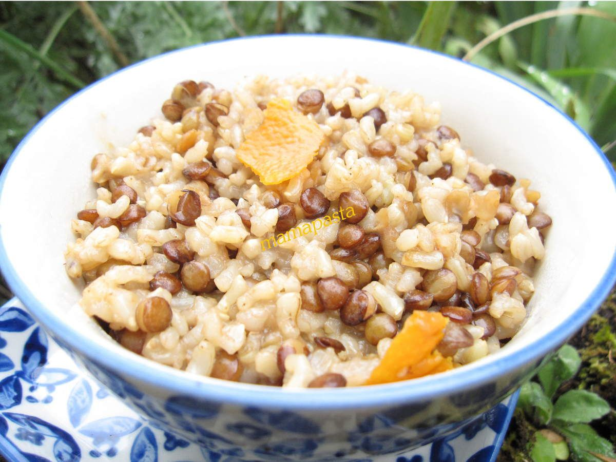 ragout lentilles &amp&#x3B; riz à l'orange au rice cooker