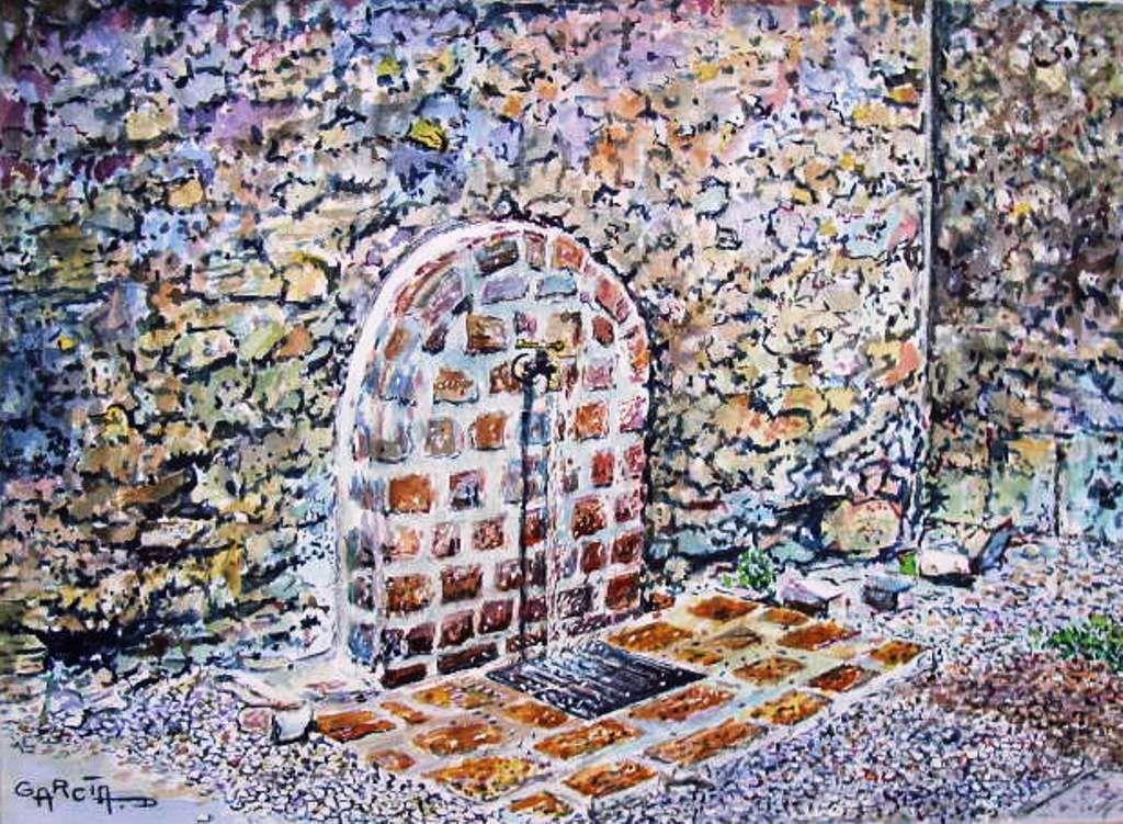 Fontaine cour du château -CAPESTANG-