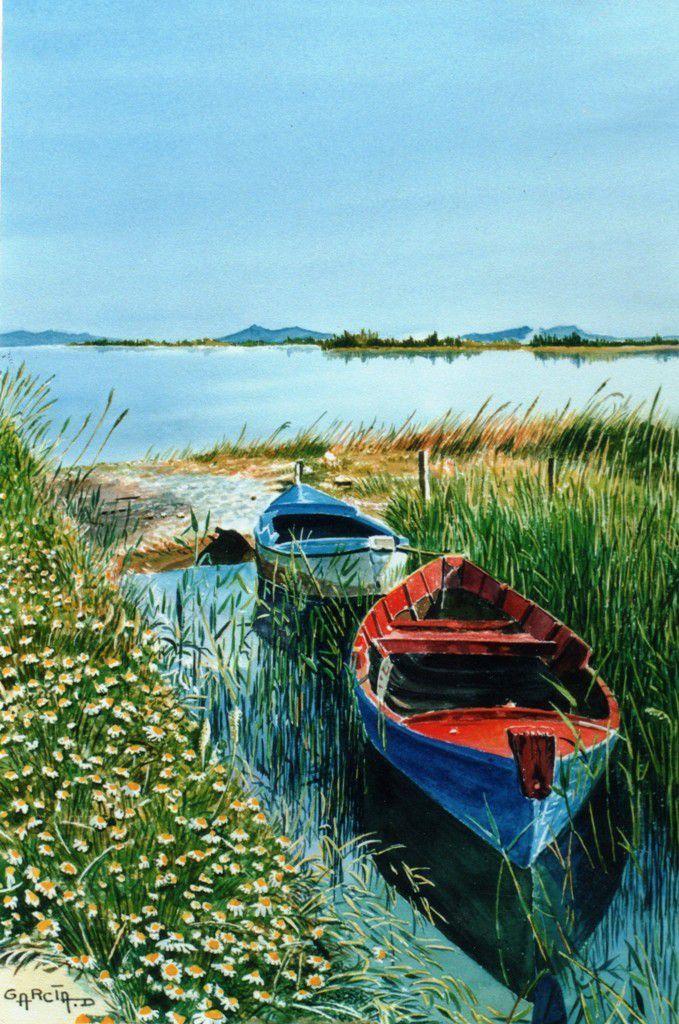 Barques sur le Canalet -CAPESTANG-