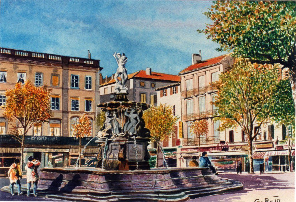 Fontaine Neptune -Place Carnot-