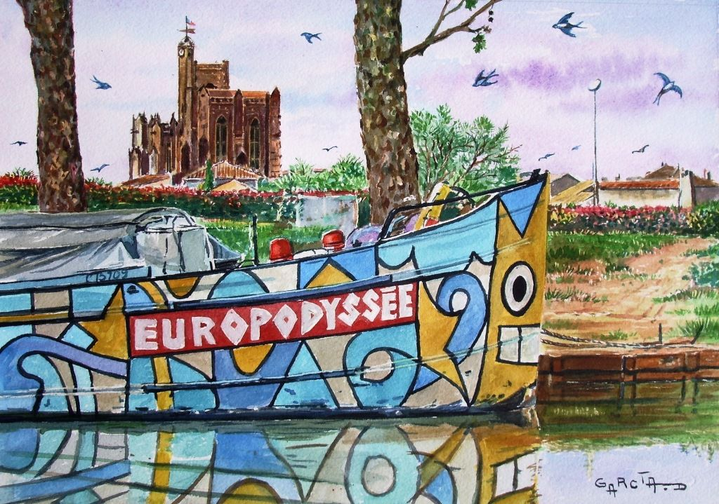 "Péniche ""EUROPODISSEE"" -CAPESTANG-"