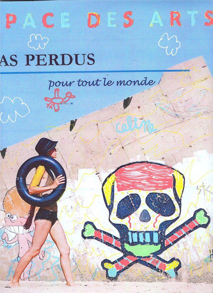 """""""customiser"""" l'affiche de l'expo en place à l'EDA (posca)"""