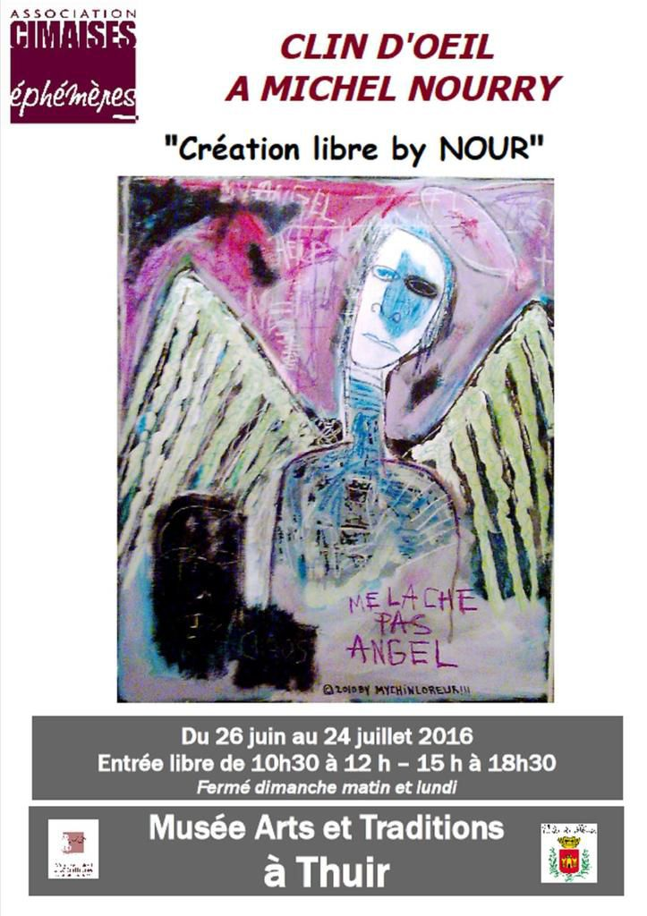 Vernissage samedi 25 juin 18h30 à Thuir (MICHEL NOURRY A EXPOSE A L'EDA)