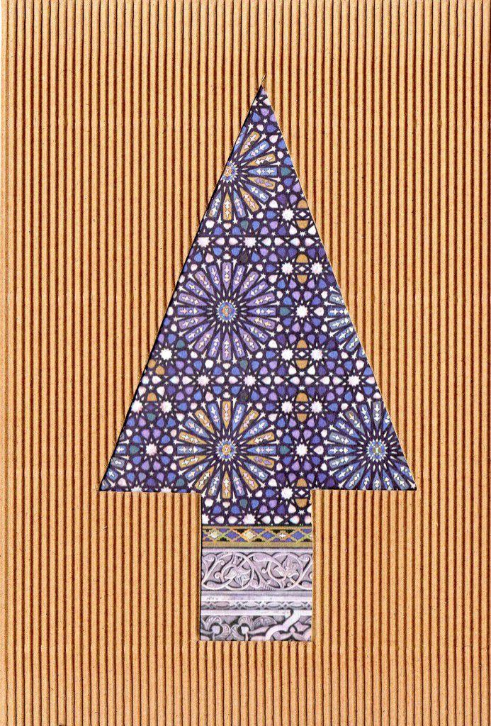 """carte sapin de Noël """"minimaliste"""" !"""