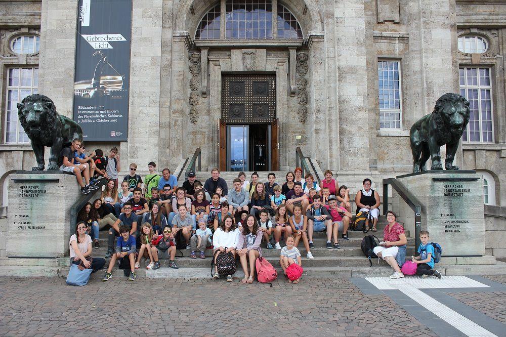 Le groupe à Darmstadt
