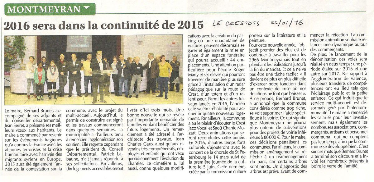 Article Le Crestois 22 01 16