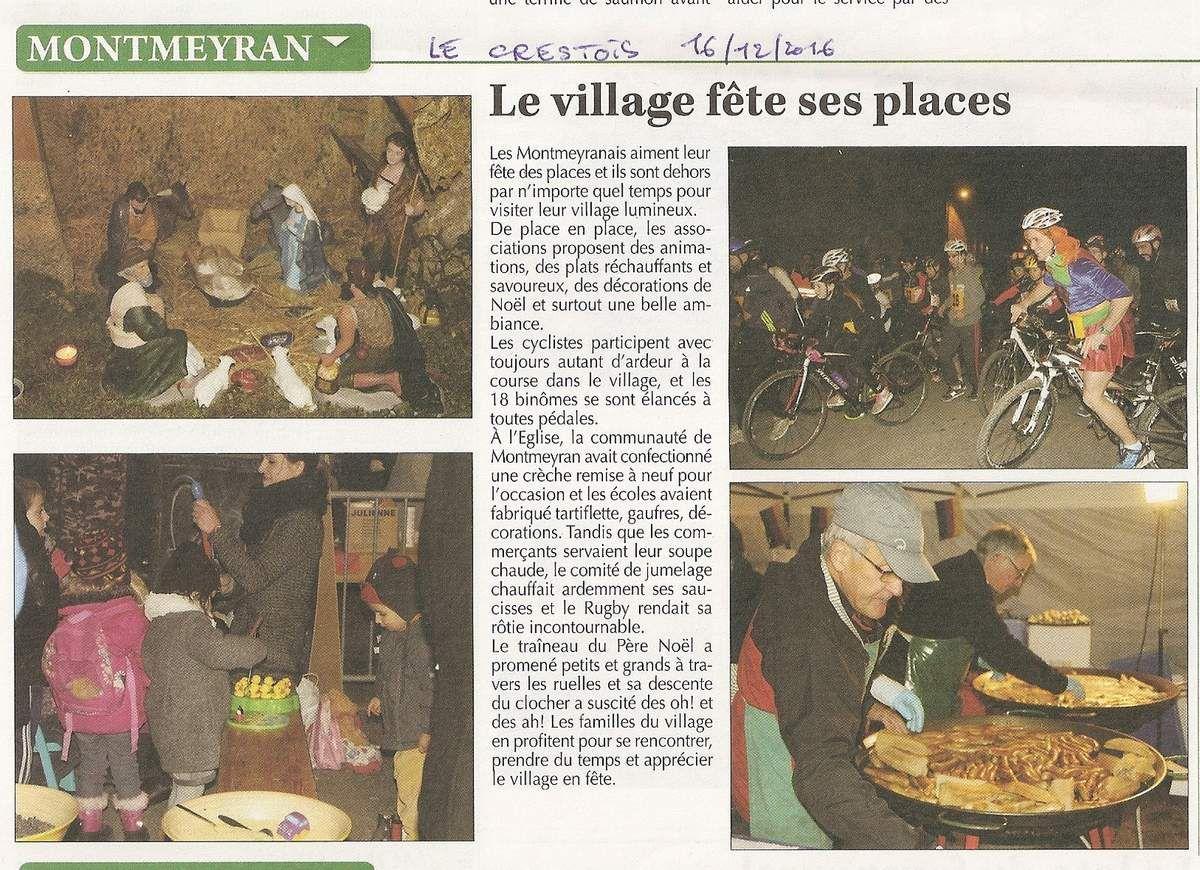 Articles Dauphiné Libéré et journal Le Crestois