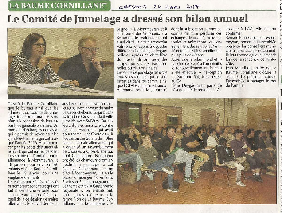 Article Le Crestois  24 mars 2017