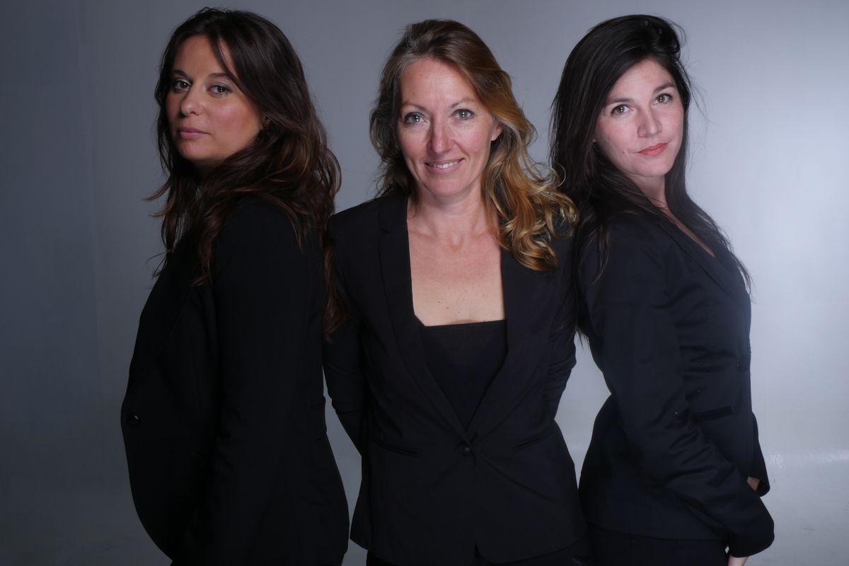 De gauche à droite : laure PERETTO, chargée de mission GEIQ MULTISECTORIEL GARD, Céline LAMOURET, Directrice, Eileen SALVA, chargée de mission GEIQ BTP GARD