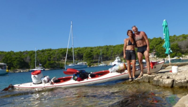 ile de Brac en Kayak