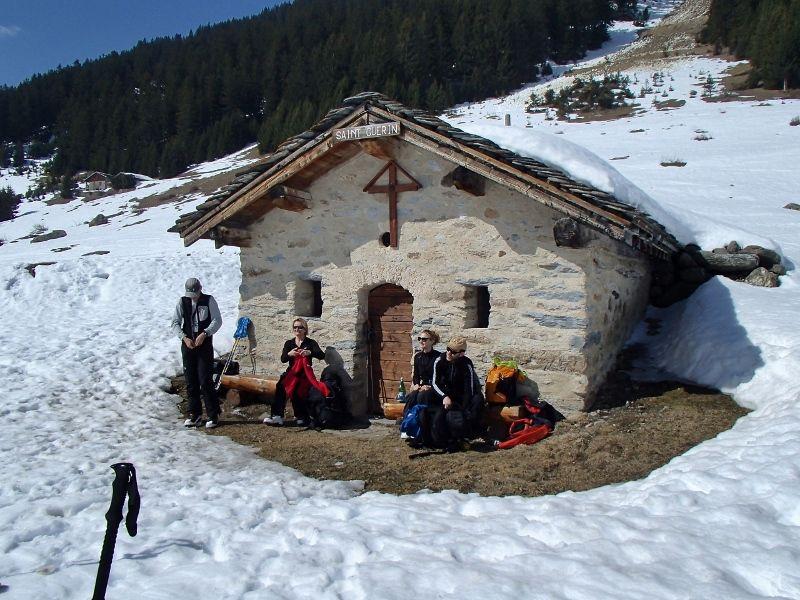 La pause s'impose,chapelle de st Guerrin .