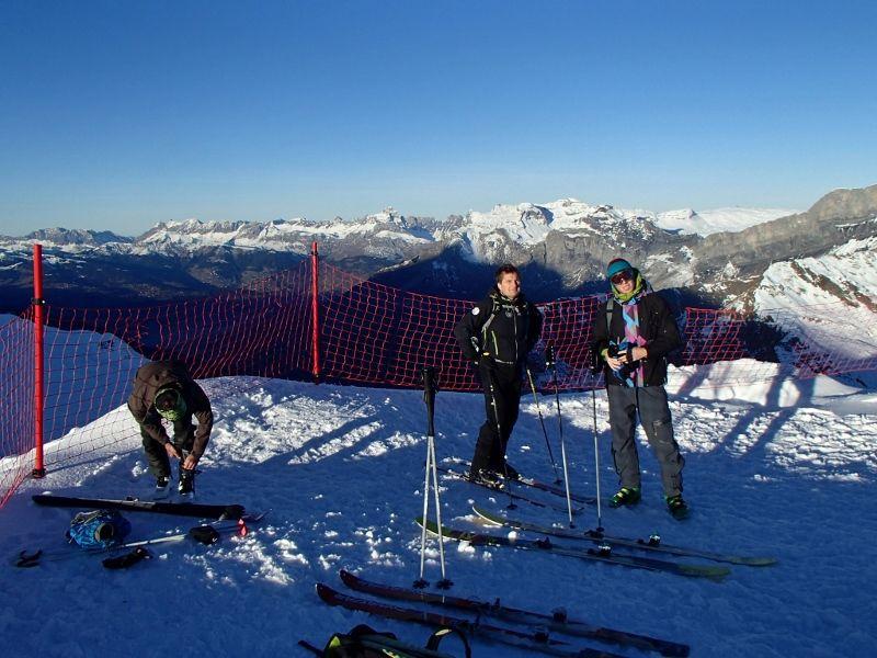 première benne skieurs de l'hiver !!