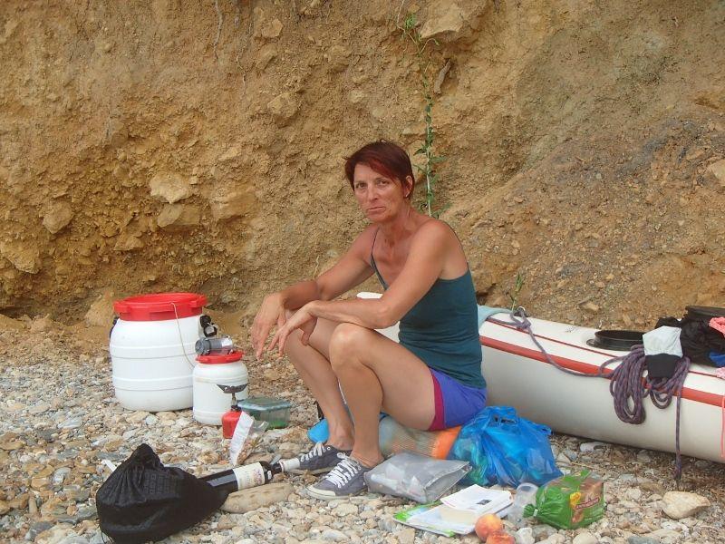 """Grosse journée avec 32 km et des plages """"fictives """" sur la carte touristique de Skiatos."""