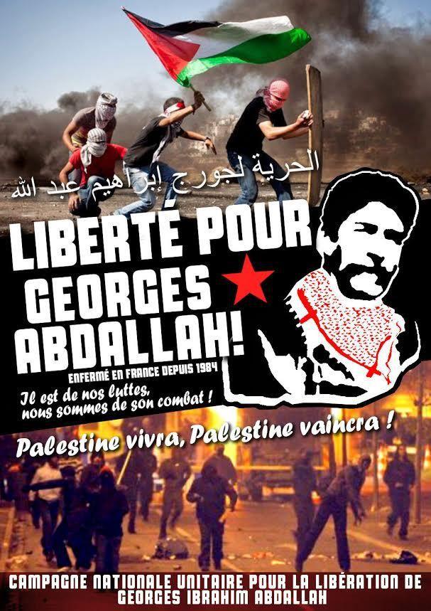 Rappel 1 : meeting pour la libération de Georges Abdallah.