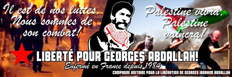 Pour Georges Abdallah à la fête de l'Humanité.