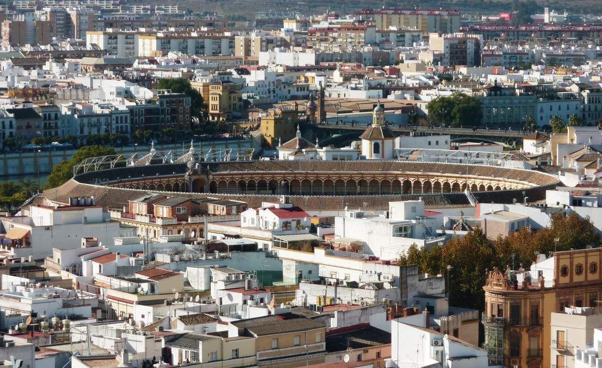"""Séville vu depuis la cathédrale """"Notre-Dame du Siège"""" de Séville !"""