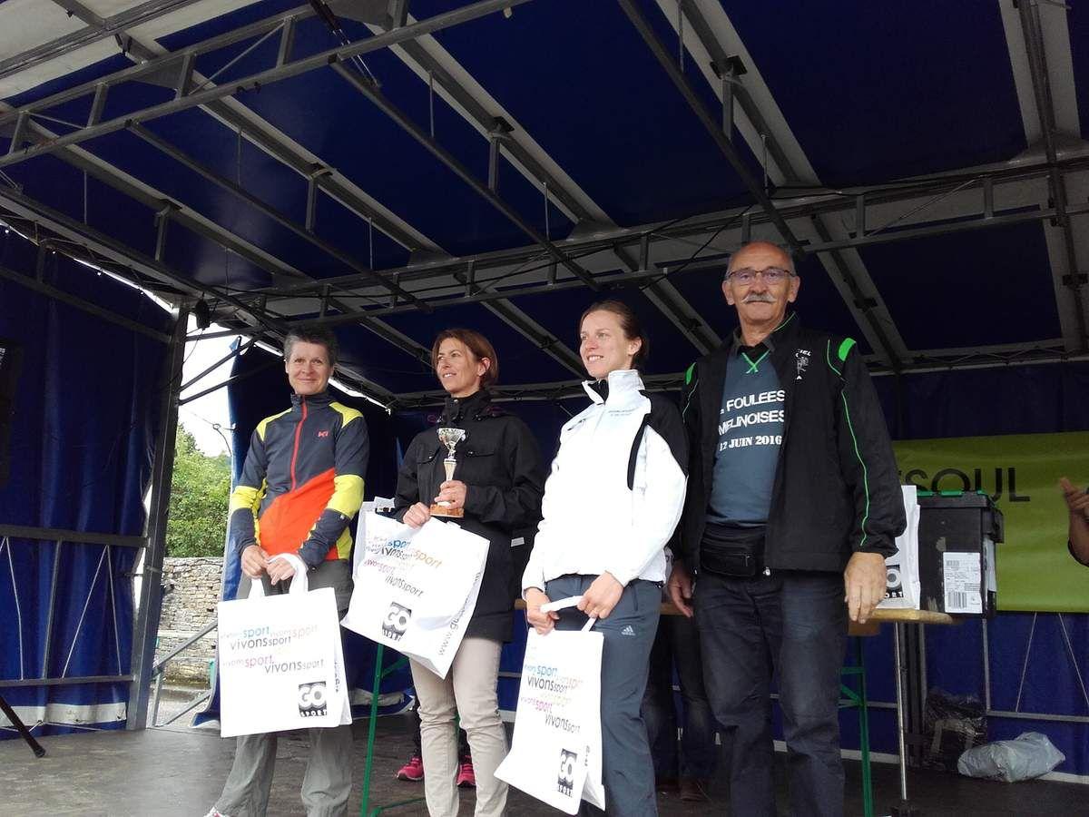Le podium de la catégorie Femmes du Trail 12 kms