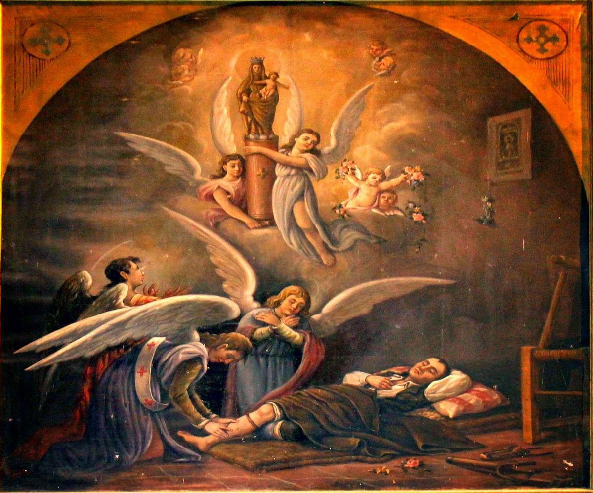 Le miracle de l'homme à la jambe coupée connu sous le nom de miracle de Calenda