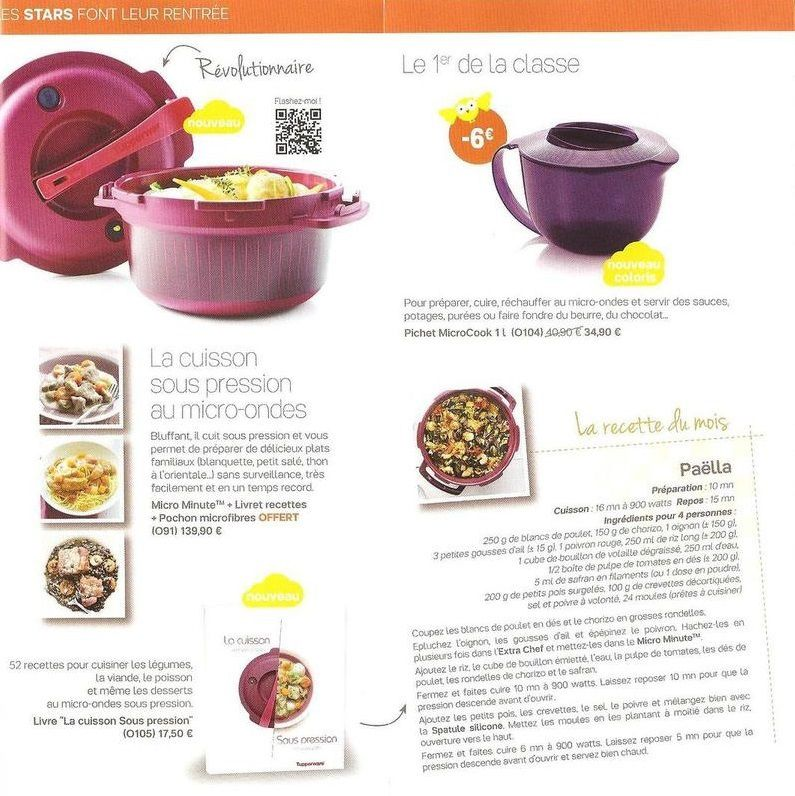 Promotion septembre 2015 tupperware 228 - Micro minute tupperware recette ...