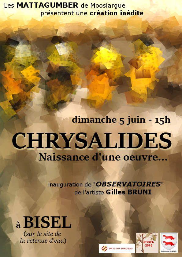 Chrysalides - Naissance d'une oeuvre... : 5 juin 2016 à BISEL