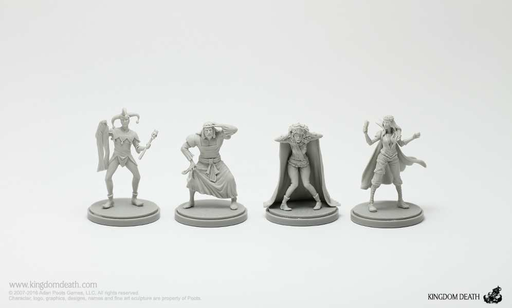 Kingdom Death&#x3B; Role survivors.