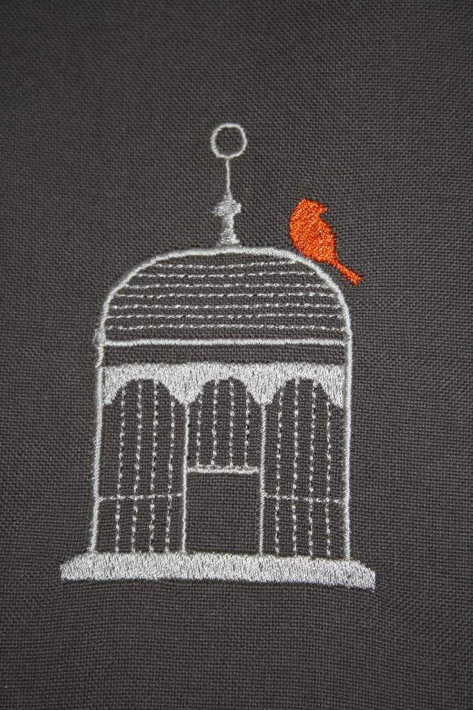 Motif La cocotte à carreaux, cage n°3