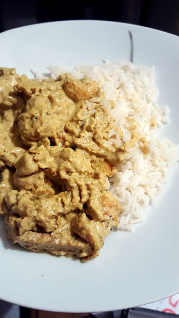 Mon poulet au curry sans poulet mais avec curry
