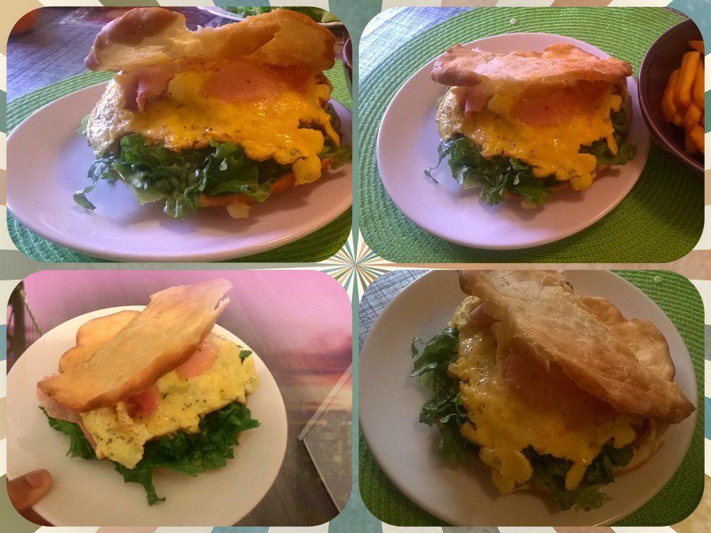 bokit omelette jambon fromage sammy cuisine