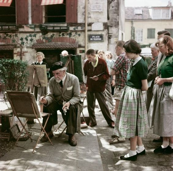 Montmartre Painter Paris 1952 Robert Capa