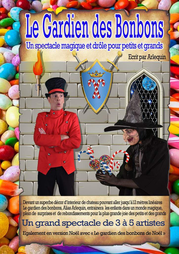 affiche spectacle enfants magie