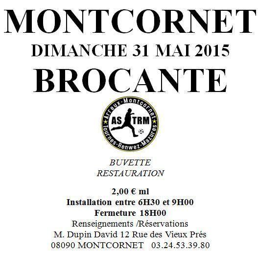 Brocante de l'ASTRM à Montcornet le 31 mai 2015