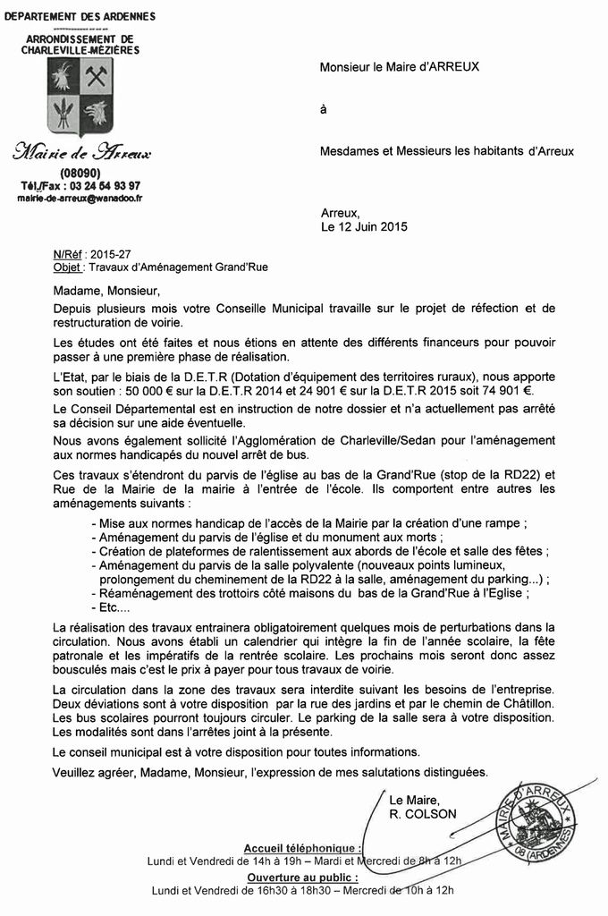 Arreux : Travaux de requalification du Bas de la Grand'Rue et des abbords de l'Eglise