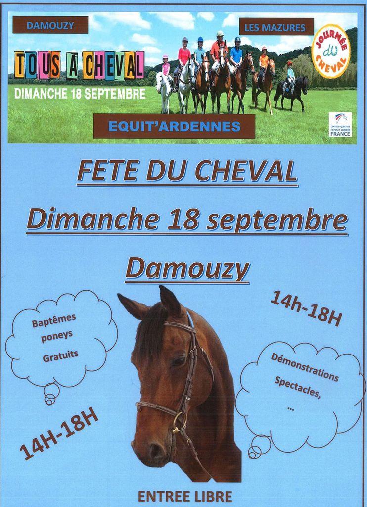Damouzy : Fête du cheval, Dimanche 18 septembre 2016