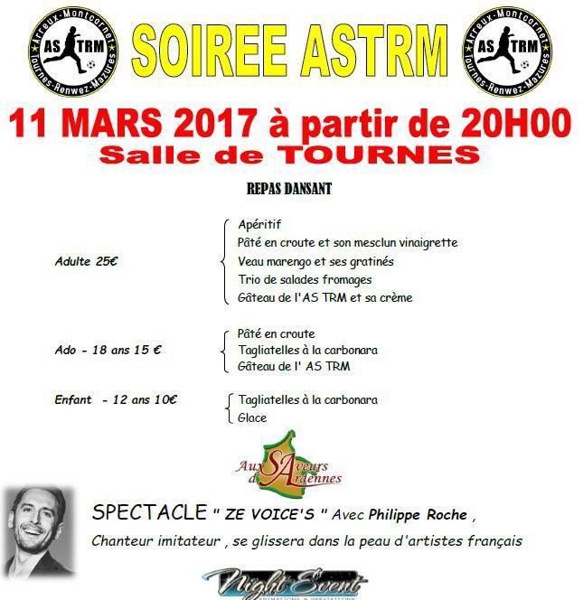 Repas Dansant du Club de Foot - ASTRM : Samedi 11 mars 2017