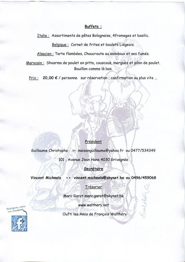 """L""""invitation pour la journée membres et la photo de couverture : François et le Grand Prix St Michel BD"""